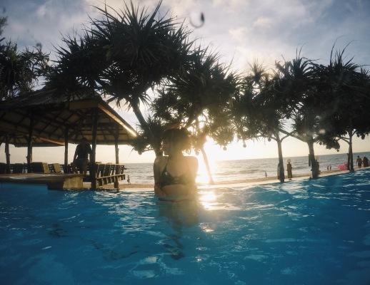 與姐妹飯店共用的沙灘景泳池